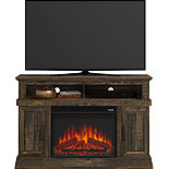 Rustic TV Credenza with Electric Fireplace 427378