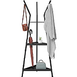 Black Metal Coat Tree with Shelves 427462