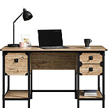 Milled Mesquite Small Desk with Drawers 427653