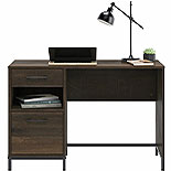 Pedestal Home Office Desk In Smoked Oak 427656