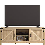 Farmhouse TV Credenza in Orchard Oak Finish 427687