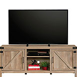 Farmhouse TV Credenza in Lintel Oak Finish 427688
