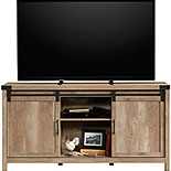 Lintel Oak TV Credenza with Sliding Doors 427690