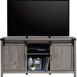 Mystic Oak TV Credenza with Sliding Doors 427691