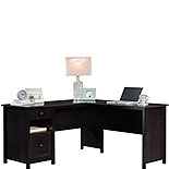 Estate Black L-Shaped Desk with File Drawer 427720