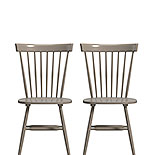 Modern Farmhouse Spindle Chairs in Gray 427842