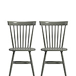 Farmhouse Spindle Chairs in Pewter Green 427843