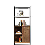 Modern Open Shelf Bookcase with Door 427971