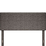 Dark Gray Upholstered Queen Bed Headboard 428190