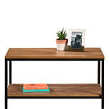 Wood and Metal Coffee Table with Open Shelf 428198