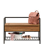 Entryway Bench with Hidden Storage & Shelf 428202
