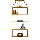 Sindoori Mango 5-Shelf Metal Frame Bookcase 428206