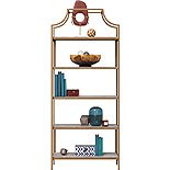 5-Shelf Metal Bookcase with Deco Stone Finish 428207