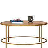 Modern Round Coffee Table in Sindoori Mango 428214