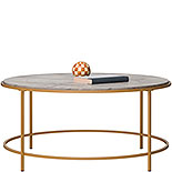 Round Coffee Table with Deco Stone Finish 428215