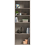 Tall 5-Shelf Bookcase in Silver Sycamore 428233