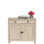 Chalk Oak Library Cabinet with Doors 428244