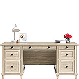 Executive Double Ped Desk in Chalk Oak 428246