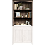 Washed Walnut 2-Shelf Library Hutch 428724