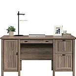Washed Walnut Office Desk with Drawers 428727