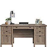 Washed Walnut Executive Computer Desk 428729