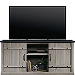 Mystic Oak TV Credenza with Black Accent Top 429347
