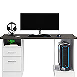 Desk for Gaming with Charcoal Ash Accent Top 429612