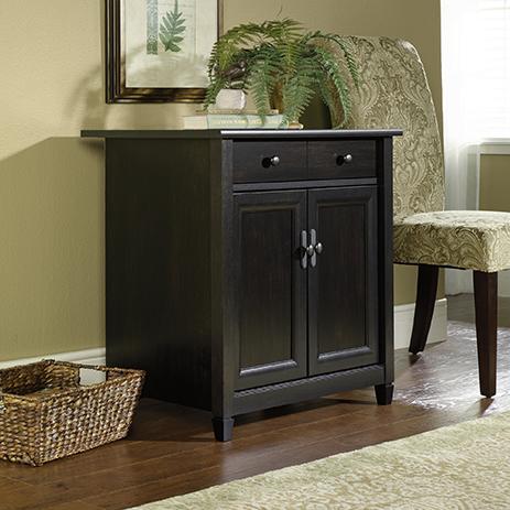 Auburn Cherry Finish Sauder 419396 Edge Water Utility Cart//Stand