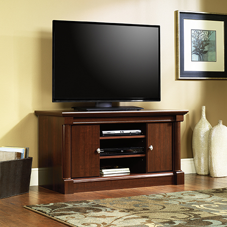 """Sauder Select Panel TV Stand for TVs up to 47/"""" Milled Cherry Finish"""