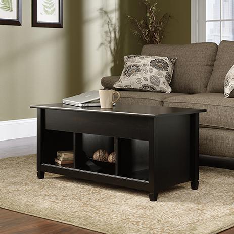 Edge Water Black Finish Lift Top Coffee Table 414856 Sauder Sauder Woodworking