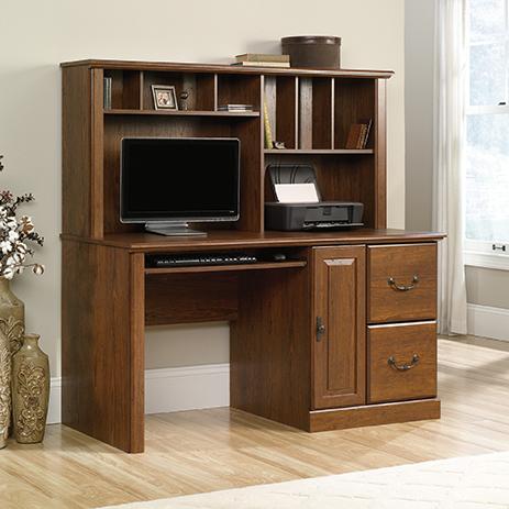 Orchard Hills Computer Desk With Hutch 418650 Sauder Sauder Woodworking