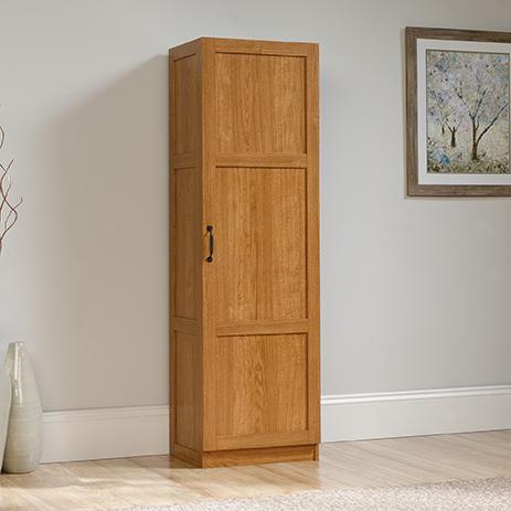 Sauder Select Tall Pantry Storage Cabinet Highland Oak 419983 Sauder Sauder Woodworking