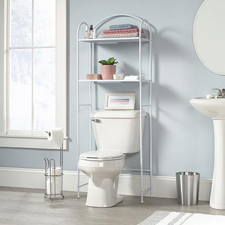 Cottage Road 3 Shelf Bathroom Etagere White 421563 Sauder Sauder Woodworking