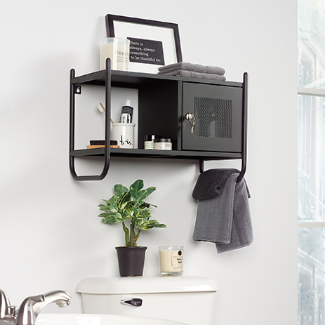 Boulevard Cafe Bathroom Wall Cabinet, Black Wall Cabinet For Bathroom