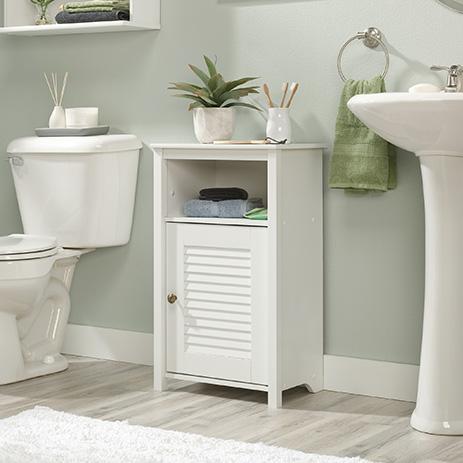 Peppercorn Bathroom Floor Cabinet Soft White 426144 Sauder