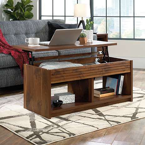 Harvey Park Lift Top Coffee Table Grand Walnut 426504 Sauder Sauder Woodworking
