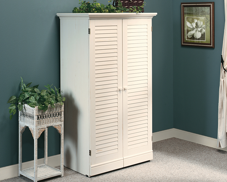 Harbor View Craft Sewing Armoire Antique White 158097