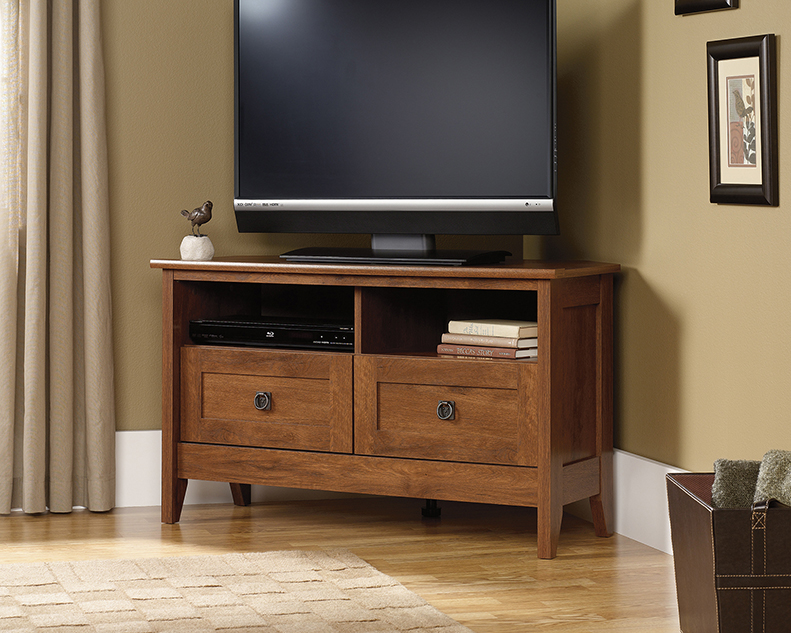 ea14eb4a0 Oak Finish Corner TV Stand 410627