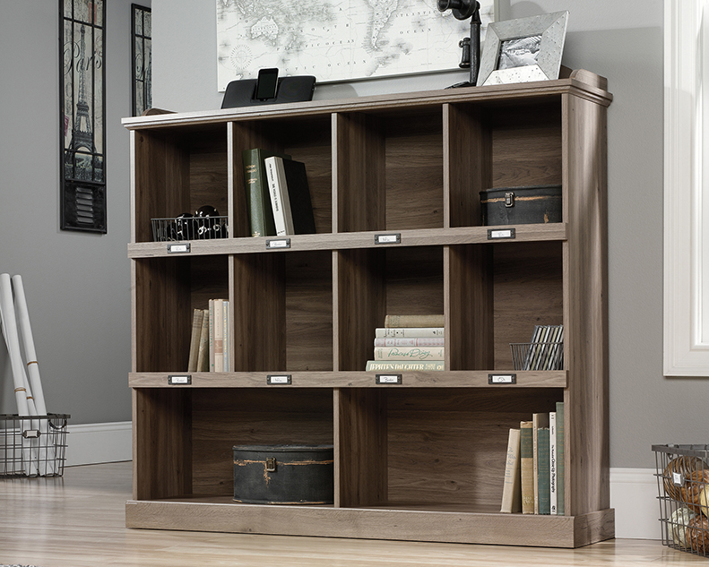 Barrister Lane Cubby Bookcase Salt Oak 414726 Sauder
