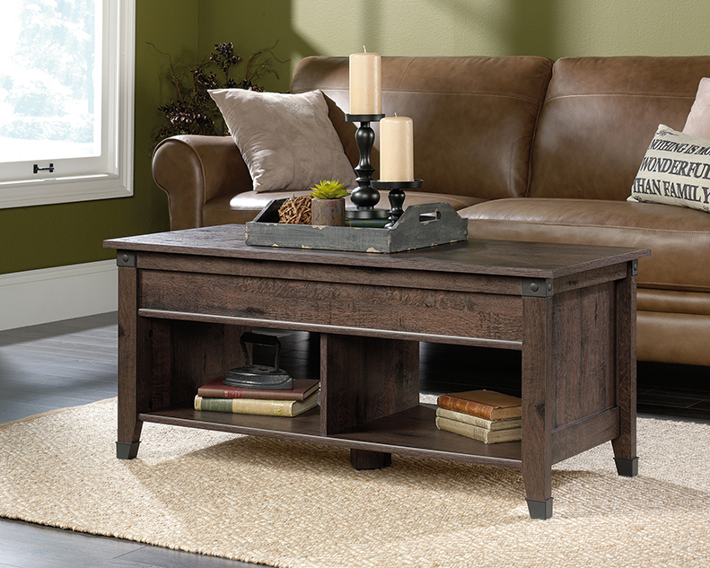 Prime Carson Forge Lift Top Coffee Table 420421 Sauder Pabps2019 Chair Design Images Pabps2019Com