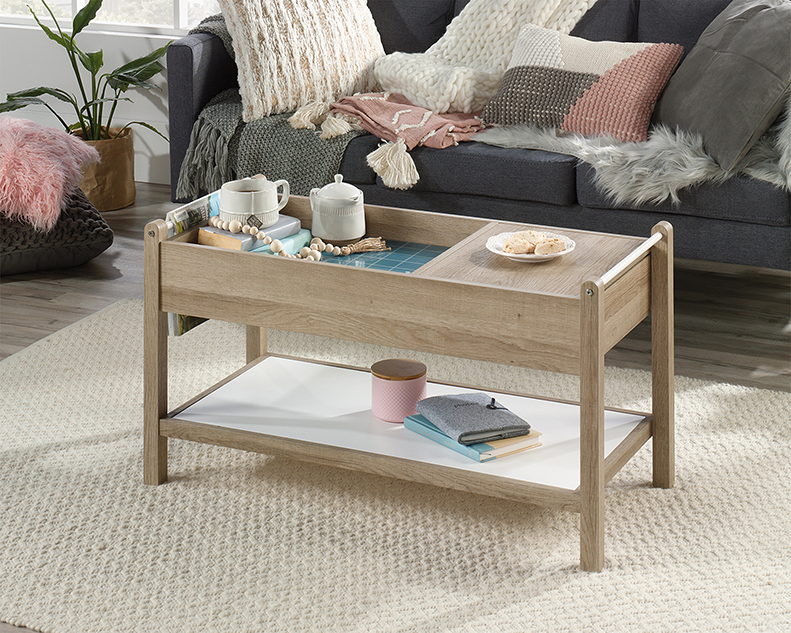 Magnificent Anda Norr Modern Coffee Table Sky Oak 422055 Sauder Ncnpc Chair Design For Home Ncnpcorg