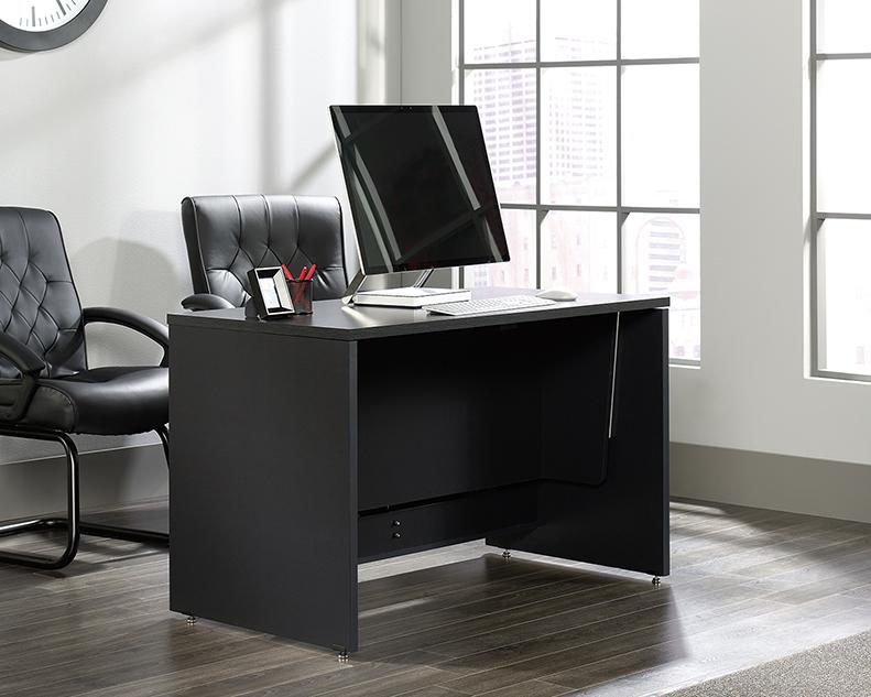 Via Collection Adjustable Standing Desk Bourbon Oak 422623