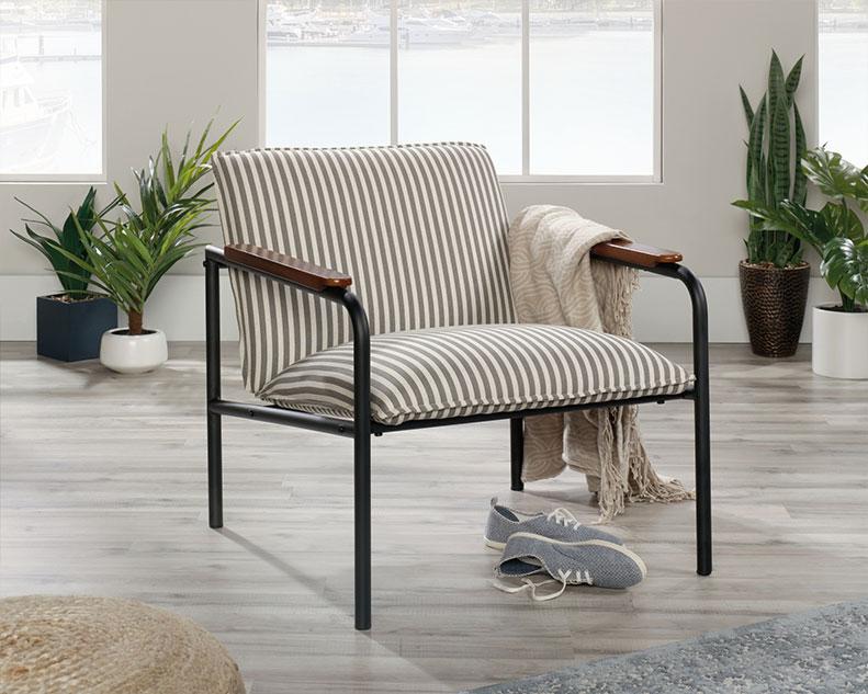 Tremendous Sauder Select Lounge Chair Vista Key Gray 422693 Sauder Machost Co Dining Chair Design Ideas Machostcouk