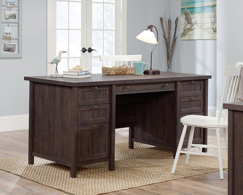 Sensational Costa Collection Coffee Oak Executive Desk 422976 Sauder Complete Home Design Collection Papxelindsey Bellcom